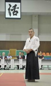 千田最高師範と今年の一字「活」_R